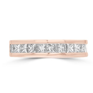 14k Rose Gold 1 7/8ct TDW Diamond Wedding Band (G-H, VS1-VS2)