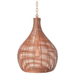 Heffner Light Tan 1-light Pendant - Bronze