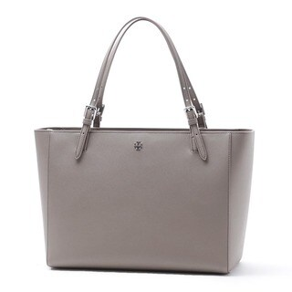 Tory Burch York French Grey Saffiano Leather Tote Bag