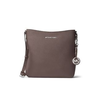 Michael Kors Jet Set Travel Cinder Grey Leather Large Crossbody Handbag