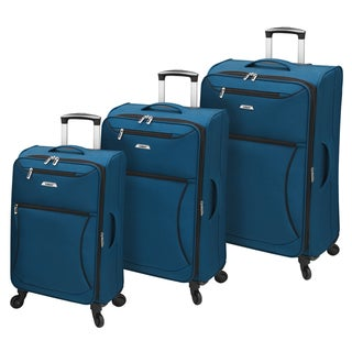 Leisure Vector Featherlights Sapphire 3-piece Expandable Spinner Luggage Set