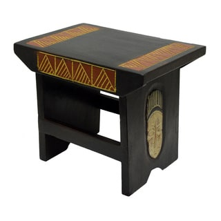 Handcrafted Mask Multipurpose Stool (Ghana)