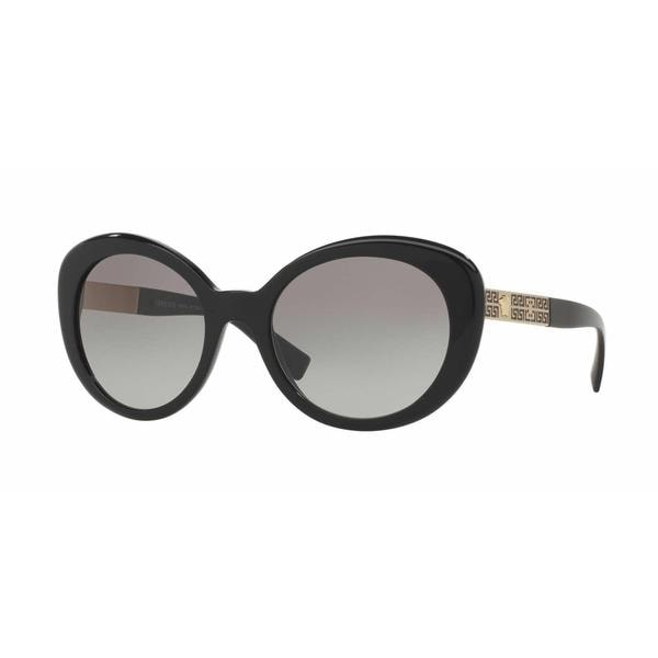 c8a5cb0c5fbb Shop Versace Women VE4318A GB1 11 Black Metal Oval Sunglasses - Free  Shipping Today - Overstock - 13292086