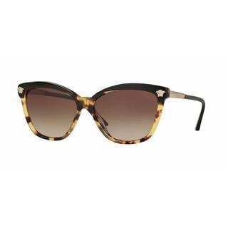 Versace Women VE4313A 517713 Havana Plastic Rectangle Sunglasses