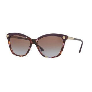 Versace Women VE4313 517968 Havana Plastic Rectangle Sunglasses