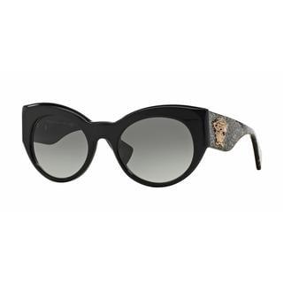 Versace Women VE4297A 515611 Black Plastic Cat Eye Sunglasses