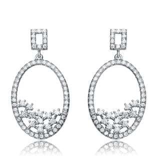 Collette Z Sterling Silver Cubic Zirconia Globe Earrings