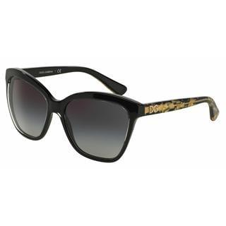 Dolce&Gabbana Women DG4251 29178G Black Plastic Square Sunglasses