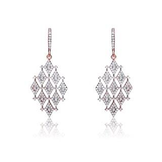 Collette Z Sterling Silver Cubic Zirconia Trendy Earrings