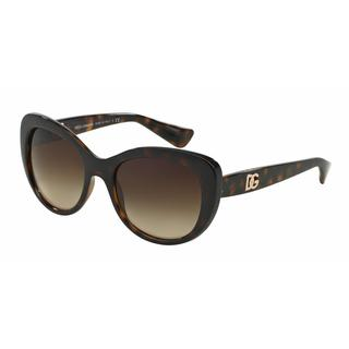 Dolce&Gabbana Women DG6090 LOGO EXECUTION 502/13 Havana Plastic Oval Sunglasses