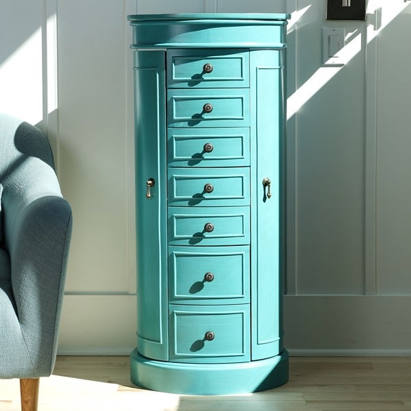 Captivating Hives And Honey Bailey Turquoise Jewelry Armoire