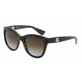 Dolce&Gabbana Women DG6087 LOGO EXECUTION 502/T5 Havana Plastic Cat Eye Sunglasses
