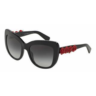 Dolce&Gabbana Women DG4252 501/8G Black Cat Eye Sunglasses
