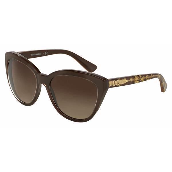 1cd8dcd36800 Shop Dolce Gabbana Women DG4250 291813 Brown Plastic Cat Eye Sunglasses -  Free Shipping Today - Overstock.com - 13292202