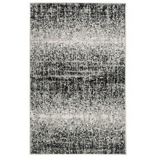 Safavieh Adirondack Modern Abstract Silver/ Black Rug (2'6 x 4')