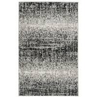 Safavieh Adirondack Modern Abstract Silver/ Black Rug - 2'6 x 4'