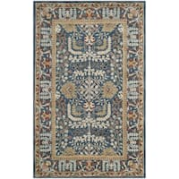 Safavieh Antiquity Traditional Handmade Dark Blue/ Multi Wool Rug - 2' X 3'