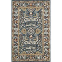 Safavieh Antiquity Traditional Handmade Dark Blue/ Multi Wool Rug (2' x 3')
