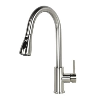 Stainless Steel Brushed Nickel Finish Pull Out Sprayer Solid Brass Kitchen / Island / Bar Faucet