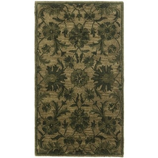 Safavieh Antiquity Traditional Handmade Olive/ Green Wool Rug (2' x 3')