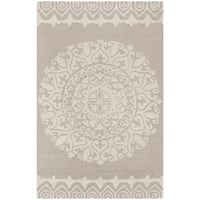 Safavieh Hand-Woven Bella Beige/ Ivory Wool Rug (2' 6 x 4') - 2'6 x 4'