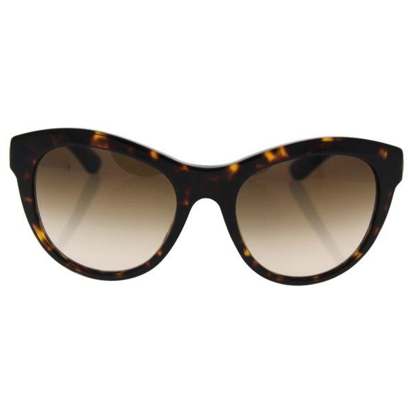 Dolce&Gabbana Women DG4243 SICILIAN TASTE 502/13 Havana Metal Round Sunglasses