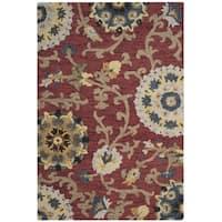 Safavieh Hand-Woven Blossom Red/ Multicolored Wool Rug (2' x 3') - 2' x 3'