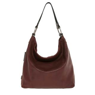 Italian Leather Hobo- Oxblood