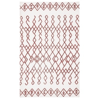 Safavieh Cedar Brook Contemporary Handmade Ivory/ Rust Jute Rug (2' 6 x 4')