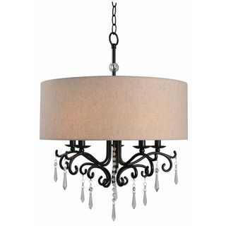 Design Craft Vivianna Blackened Oil Rubbed Bronze 5-light Chandelier