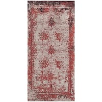 Safavieh Classic Vintage Red Cotton Abstract Distressed Rug - 2'4 x 4'8