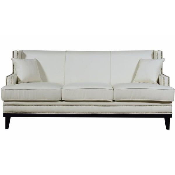 Modern Nailhead Sofa: Shop Modern Soft Linen Fabric Sofa With Nailhead Trim
