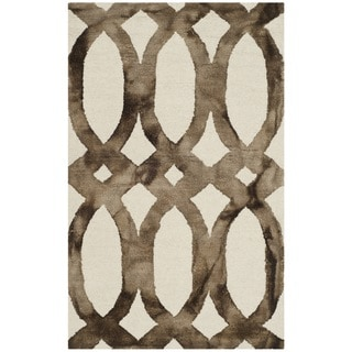 Safavieh Dip Dye Vintage Handmade Ivory/ Chocolate Wool Rug (2' 6 x 4')