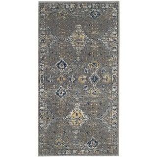 Safavieh Evoke Vintage Dark Grey / Yellow Distressed Rug (2' 2 x 4')