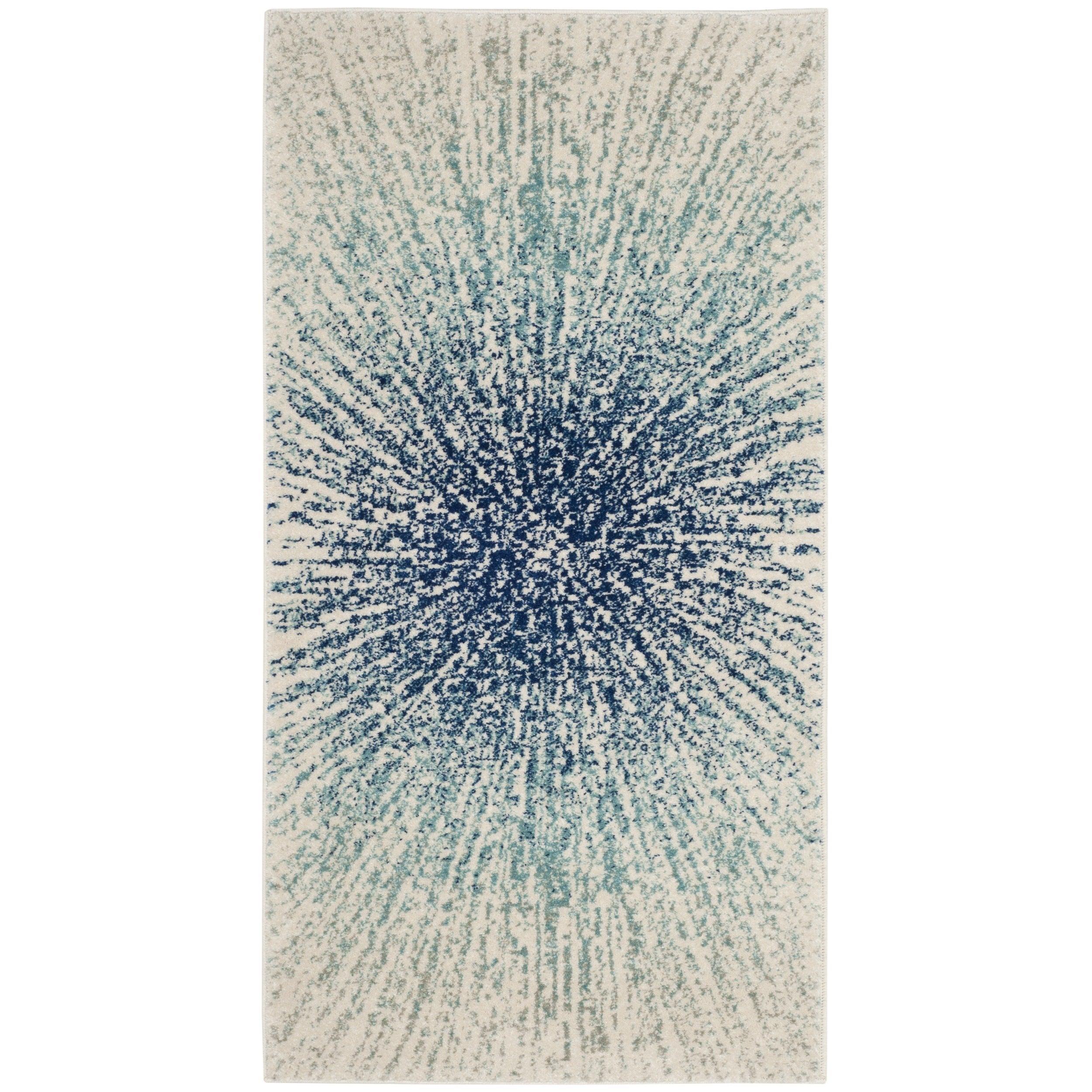 Safavieh Evoke Nova Abstract Burst Royal Blue Ivory Rug