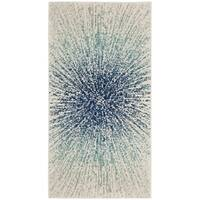 Safavieh Evoke Vintage Abstract Burst Royal Blue/ Ivory Distressed Rug - 2'2 x 4'
