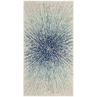 "Safavieh Evoke Vintage Abstract Burst Royal Blue/ Ivory Distressed Rug - 2'2"" x 4'"