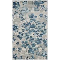Safavieh Evoke Vintage Floral Grey / Light Blue Distressed Rug - 2'2 x 4'