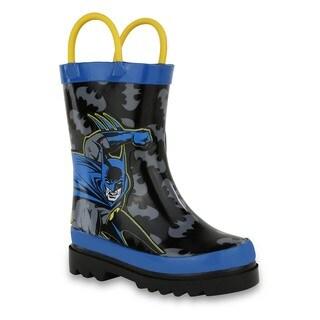 DC Comics Boys' Batman Blue and Black Rubber Rain Boots https://ak1.ostkcdn.com/images/products/13292452/P20003529.jpg?_ostk_perf_=percv&impolicy=medium