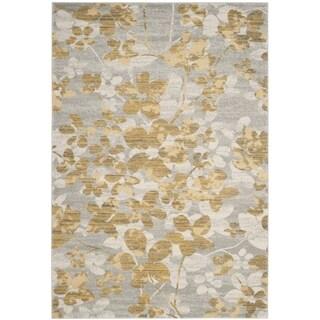 Safavieh Evoke Vintage Floral Grey / Gold Distressed Rug (2' 2 x 4')