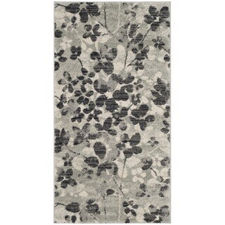Safavieh Evoke Vintage Floral Grey / Black Distressed Rug (2' 2 x 4')