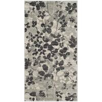 Safavieh Evoke Vintage Floral Grey / Black Distressed Rug - 2'2 x 4'