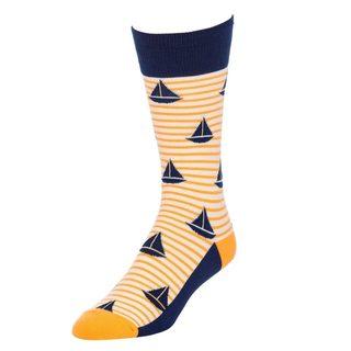 STROLLEGANT Sail Men's 1 Pair Size 10-13 Crew Socks