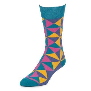 STROLLEGANT Pinwheel Men's 1 Pair Size 10-13 Crew Socks