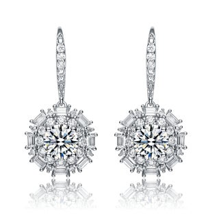 Collette Z Sterling Silver Cubic Zirconia Sphere Earrings
