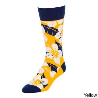 STROLLEGANT Tropical Men's 1 Pair Size 10-13 Crew Socks