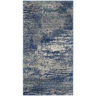 Safavieh Evoke Vintage Modern Abstract Navy / Ivory Distressed Rug (2' 2 x 4')