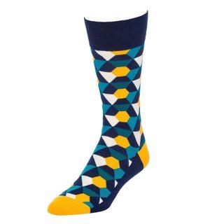 STROLLEGANT Kaleidoscope Men's 1 Pair Size 10-13 Crew Socks