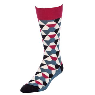 STROLLEGANT Kaleidoscope Men's 1 Pair Size 10-13 Crew Socks