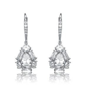 Collette Z Sterling Silver Cubic Zirconia Bell Earrings